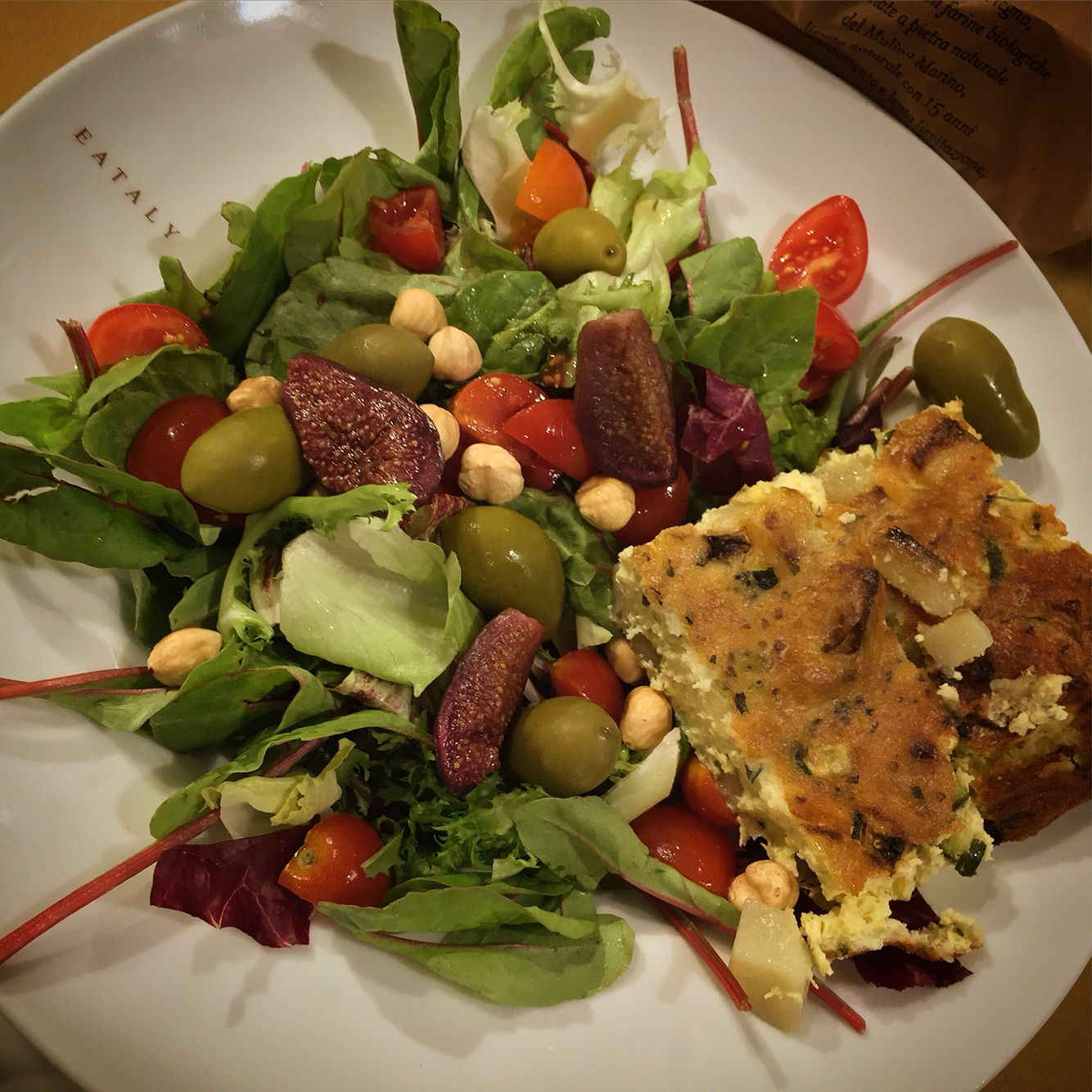 Photo Taken a Little 'Time Ago Good Lunch    #photo #dish #salad #omelette #green_olives #mixedsalad #walnuts #good #eat #food #Caterina #location #eatalysmeraldo #social #socialnetwork #pinterest #instagram #foursquare #swarm #tumblr #twitter #instagram #followme #followers
