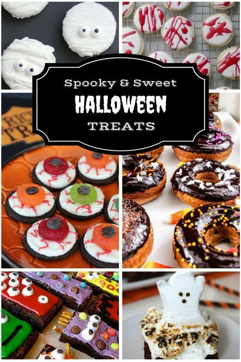 Spooky  Sweet Halloween Treats - 11 Halloween Recipes Monster - spooky food ideas for halloween
