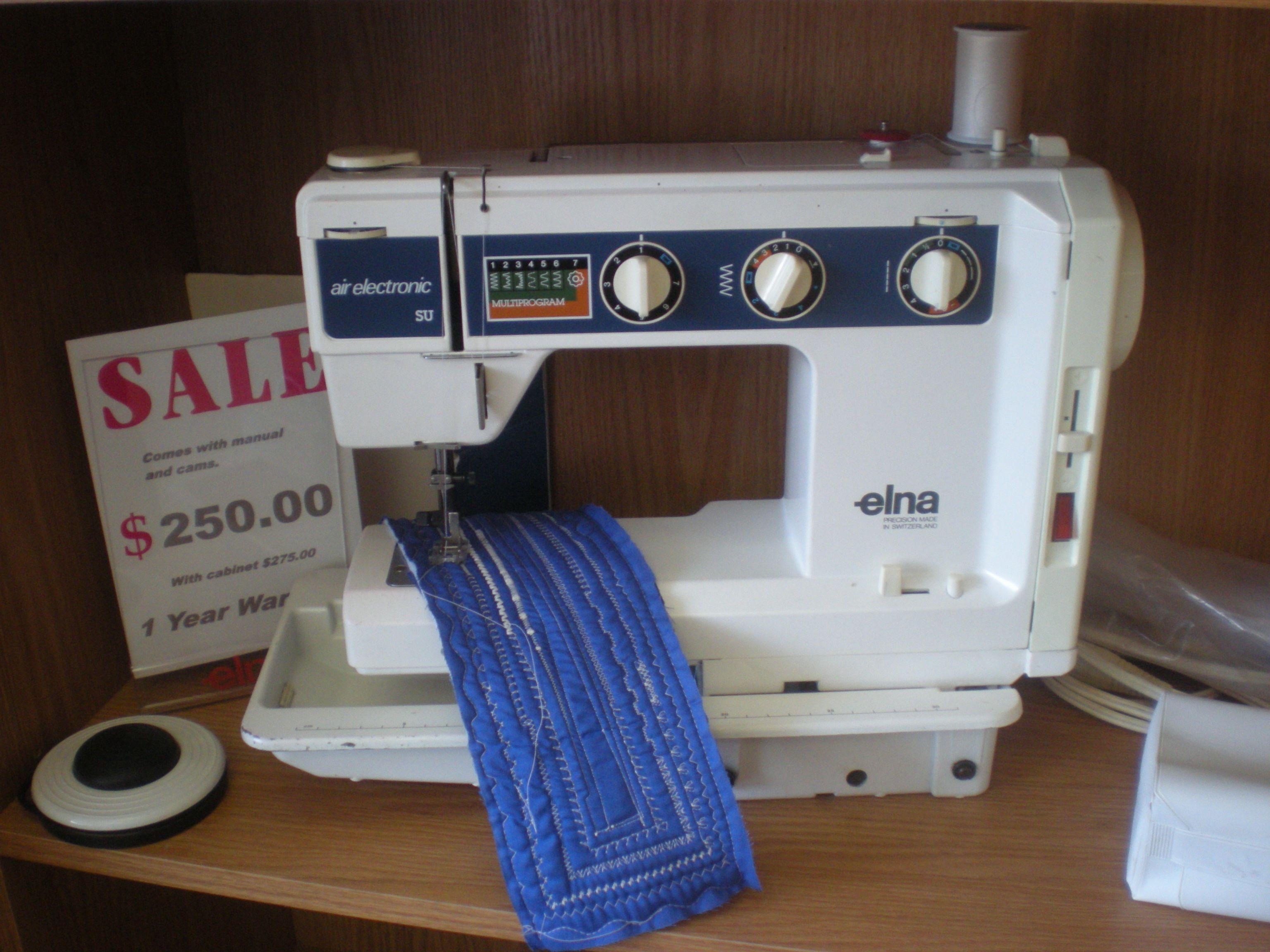 elna air electronic model su with duplex base to go into a cabinet rh pinterest com Elna Supermatic Sewing Machine Manual Elna Automatic Sewing Machine