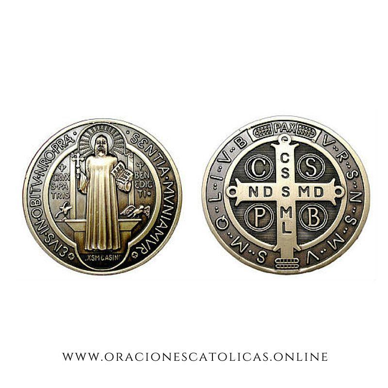 Oración De Protección Y Significado De La Medalla De San Benito Para La Protección Y Exorcismo De Toda Negatividad Y En 2021 San Benito Oraciones Oración A San Benito