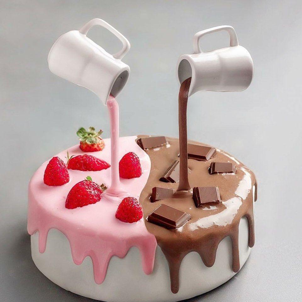 Cool Cakes Gravity Cake Fun Desserts Funny Birthday Cards Online Elaedamsfinfo