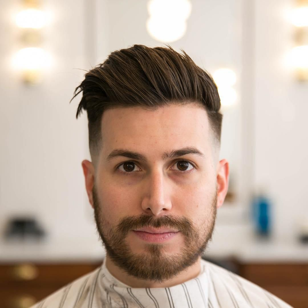 Erkek Sac Modelleri 2018 9 Comb Over Haircut Round Face Men Hairstyles For Round Faces