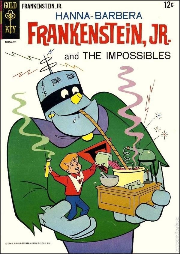 Cartoonpop frankenstein jr and the impossibles
