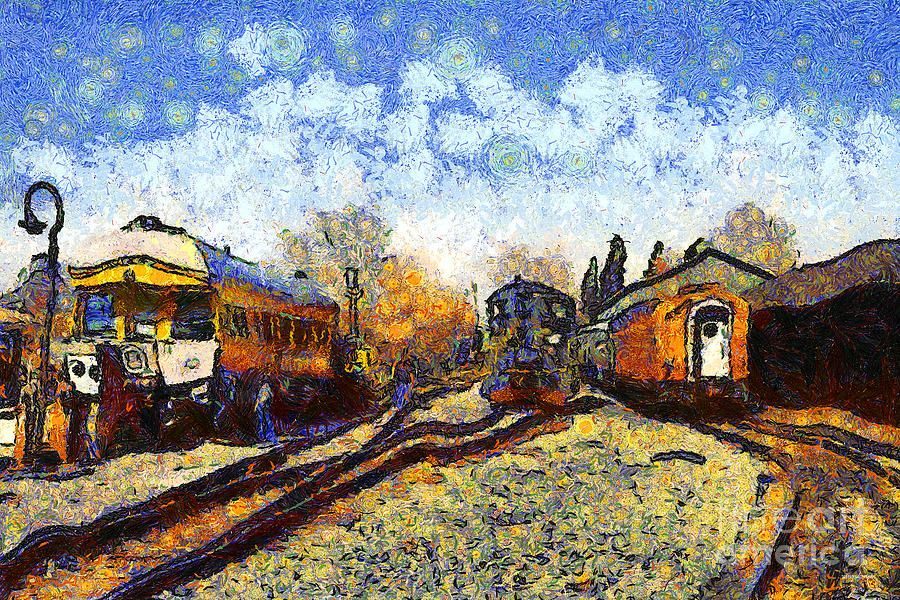 Vincent Von Gogh Train Station Van Gogh Art Vincent Van Gogh