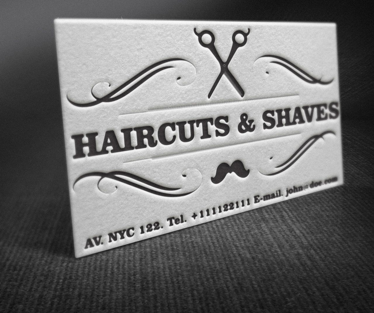 Letterpress Barber Shop Business Cards by BorceMarkoski on ...