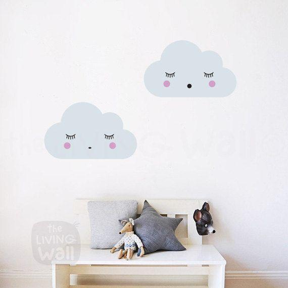 Dreaming Clouds Wall Decals Cloud Nursery Decal Sweet Clouds Wall Stickers Australian Made Wall Decor Stickers Muraux Autocollants De Mur Parement Mural