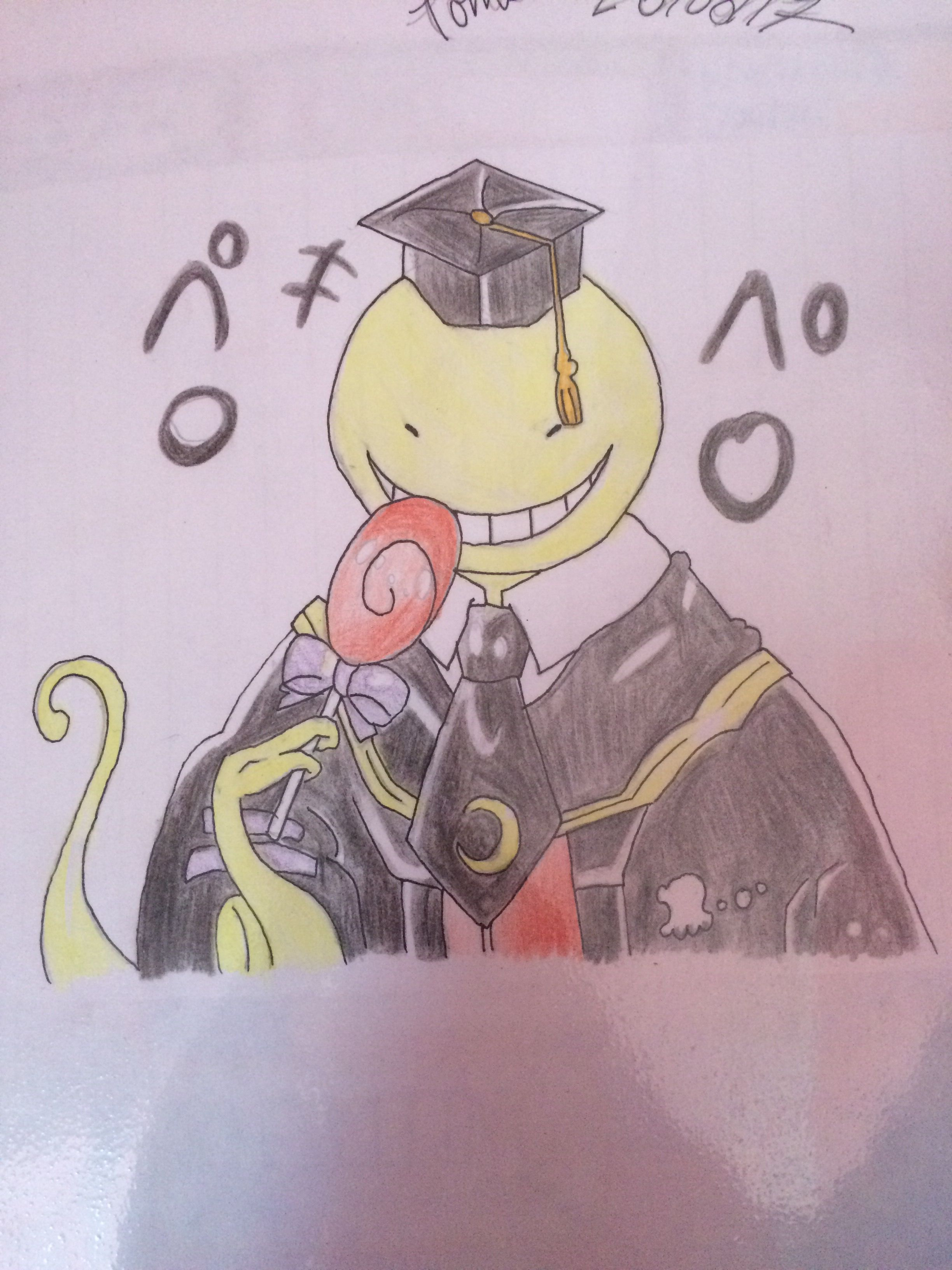 Real face of korosensei! nosebleed Assassination