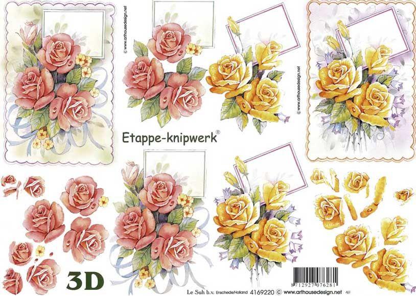 planche de decoupage fleurs | 3d decoupage | pinterest | technique