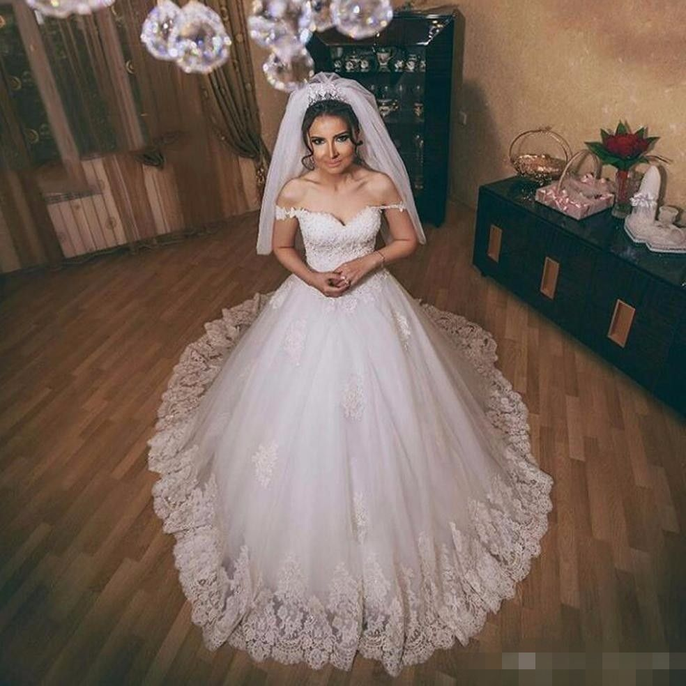 Beaded ball gown wedding dress  New Exquisite Beaded Ball Gown Sexy Off the Shoulder Wedding Dress