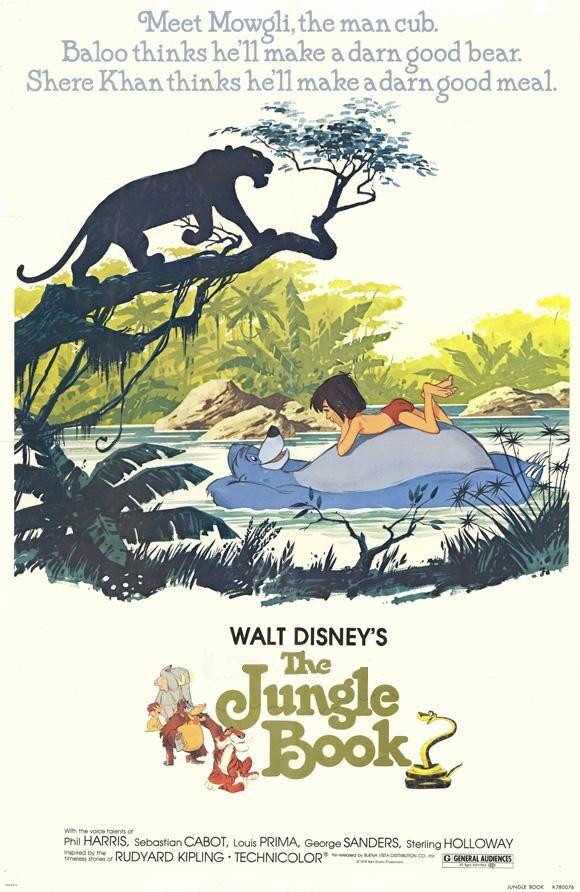 Le Livre De La Jungle Les Affiches Du Film Fan De Cinéma Le Livre De La Jungle Affiches Disney Posters Disney Vintage