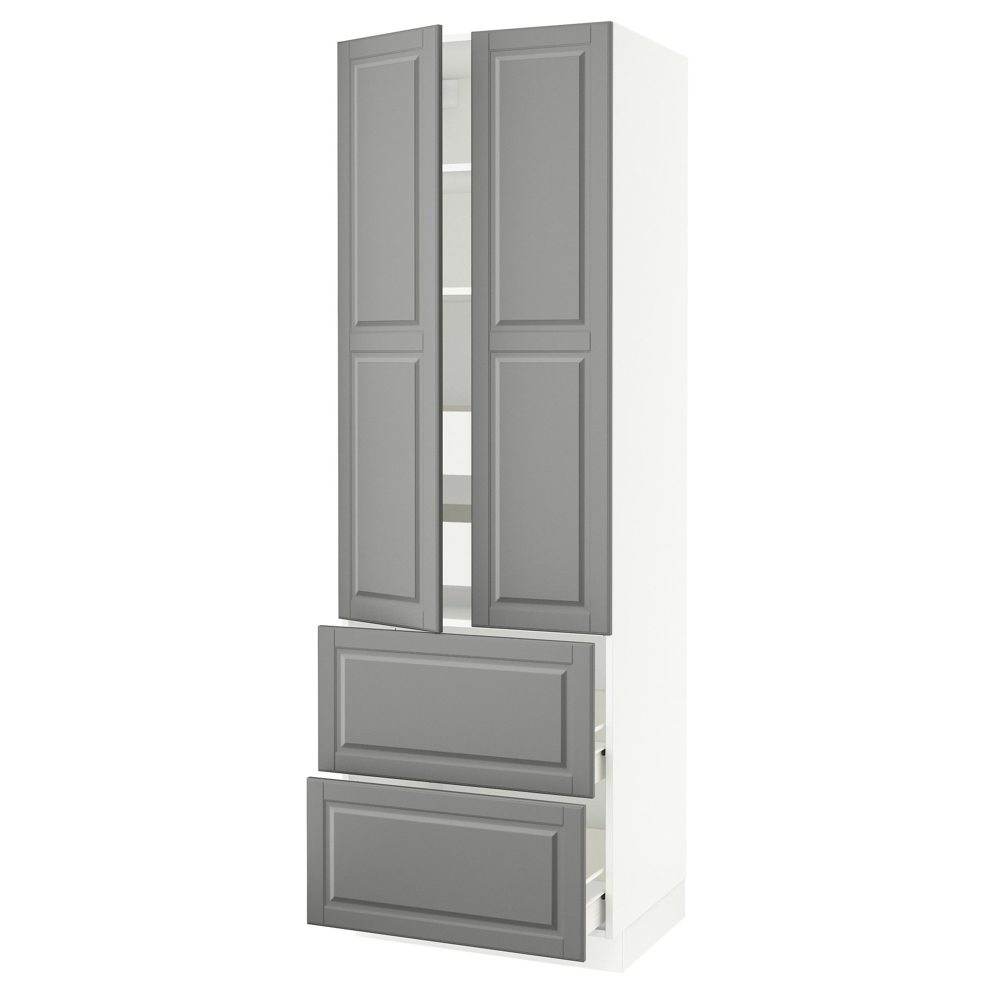ikea sektion white high cabinet w 2doors 4 drawers frame colour rh pinterest com