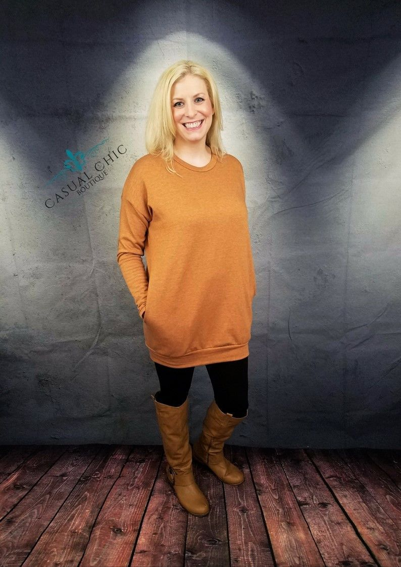Rust Tunic with Suede Elbow Patches