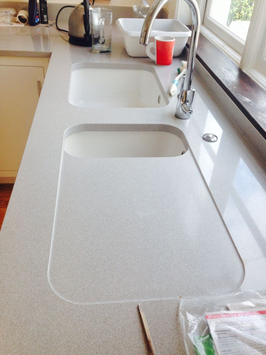 Silestone integrity sink with recess drainer - Recessed Silestone Drainer With Double Sinks