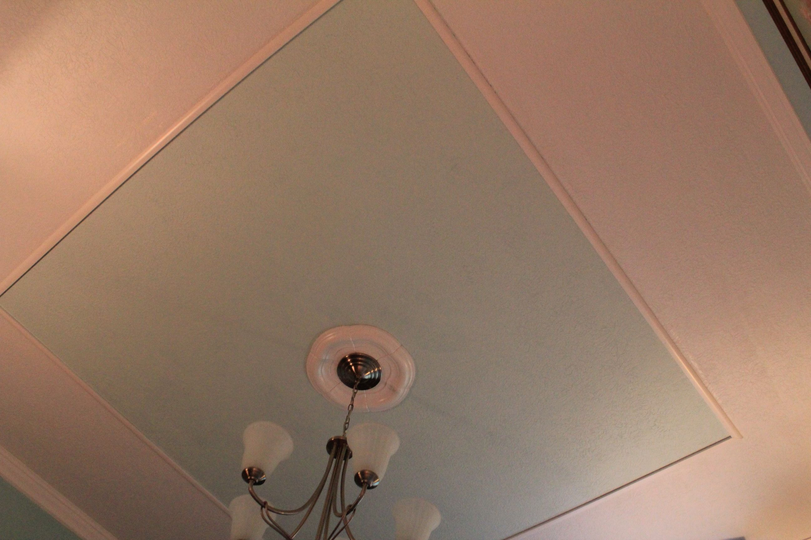 Diy Faux Tray Ceiling How To Create A Faux Tray Ceiling