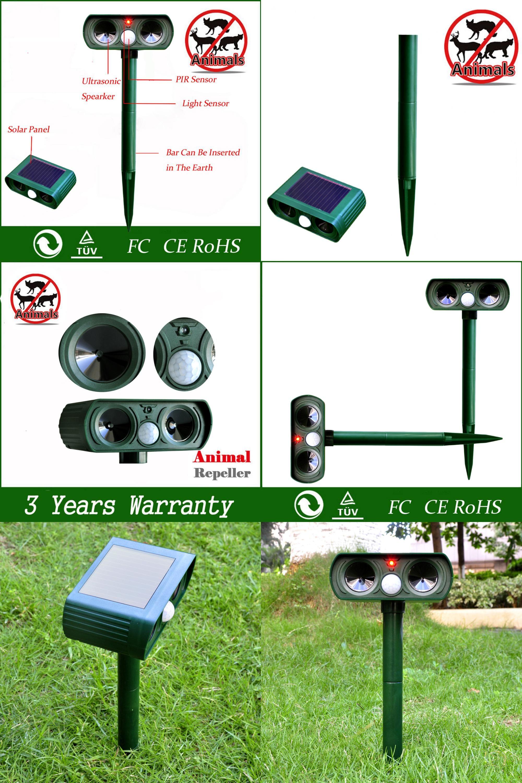 Visit To Buy 2017 High Quality Green Garden Cat Dog Pest Repeller Solar Powered Animal Scarer Power Ultra Sonic Frighten Repellent Outdoor Use