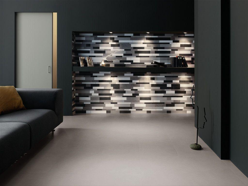 VISUAL Silver 45x45 R - Mosaico F 30x45 - Visual Minimal Design - Ceramiche Refin S.p. A.