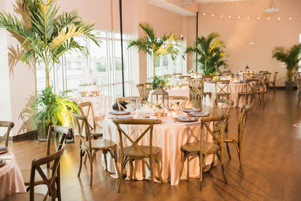 Organic Blush Pink And Navy St Petersburg Wedding Indoor