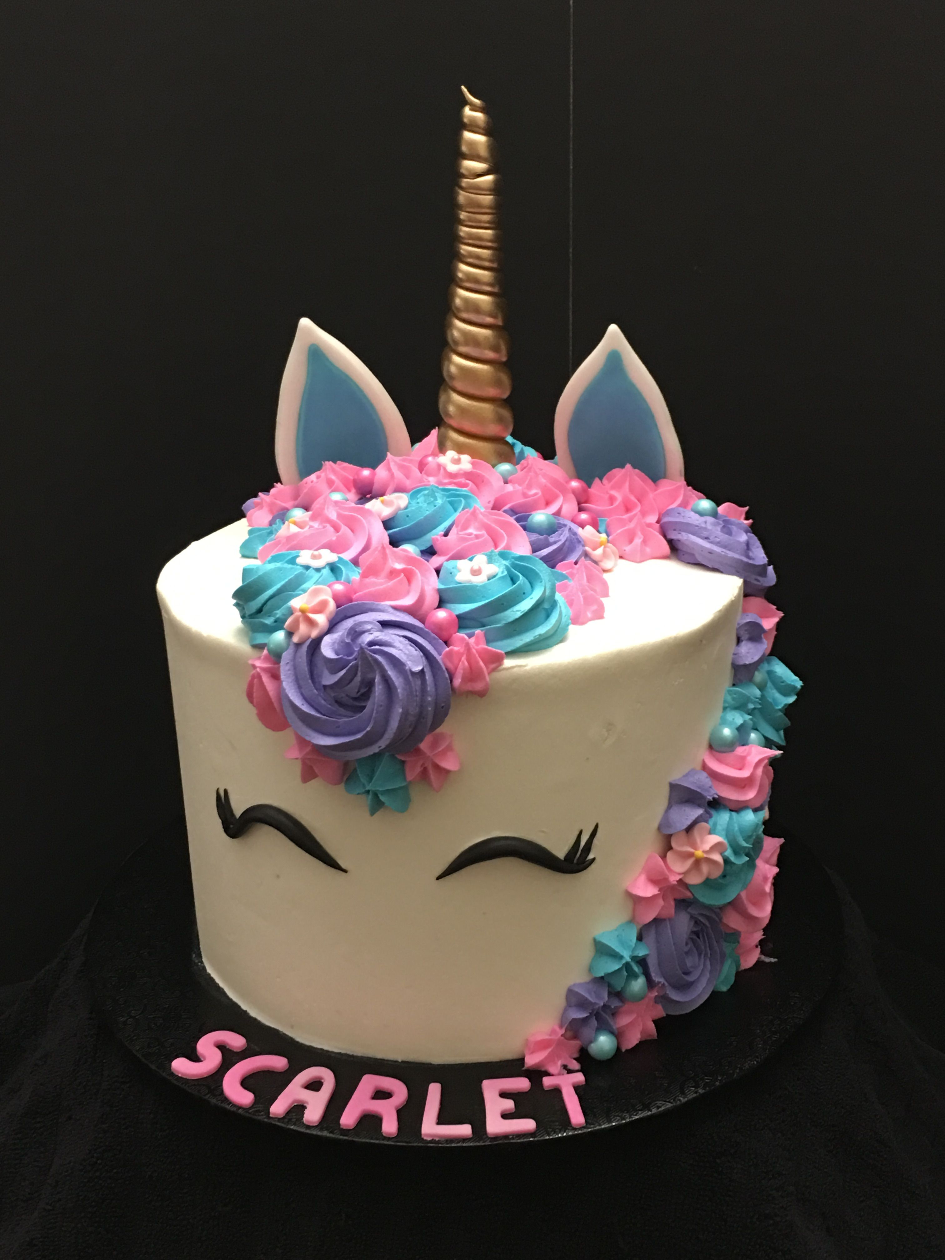 Unicorn Cake Pink Purple Birthday Cake Girl