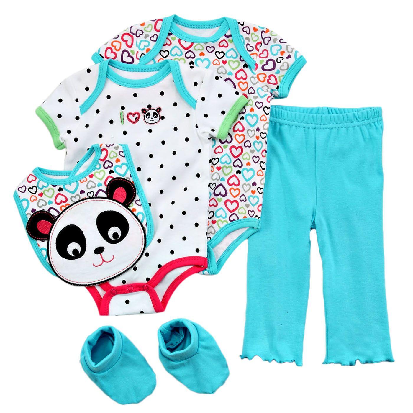 Carters Watch The Wear Newborn Girl  5 Piece Layette Set | Shopko.com