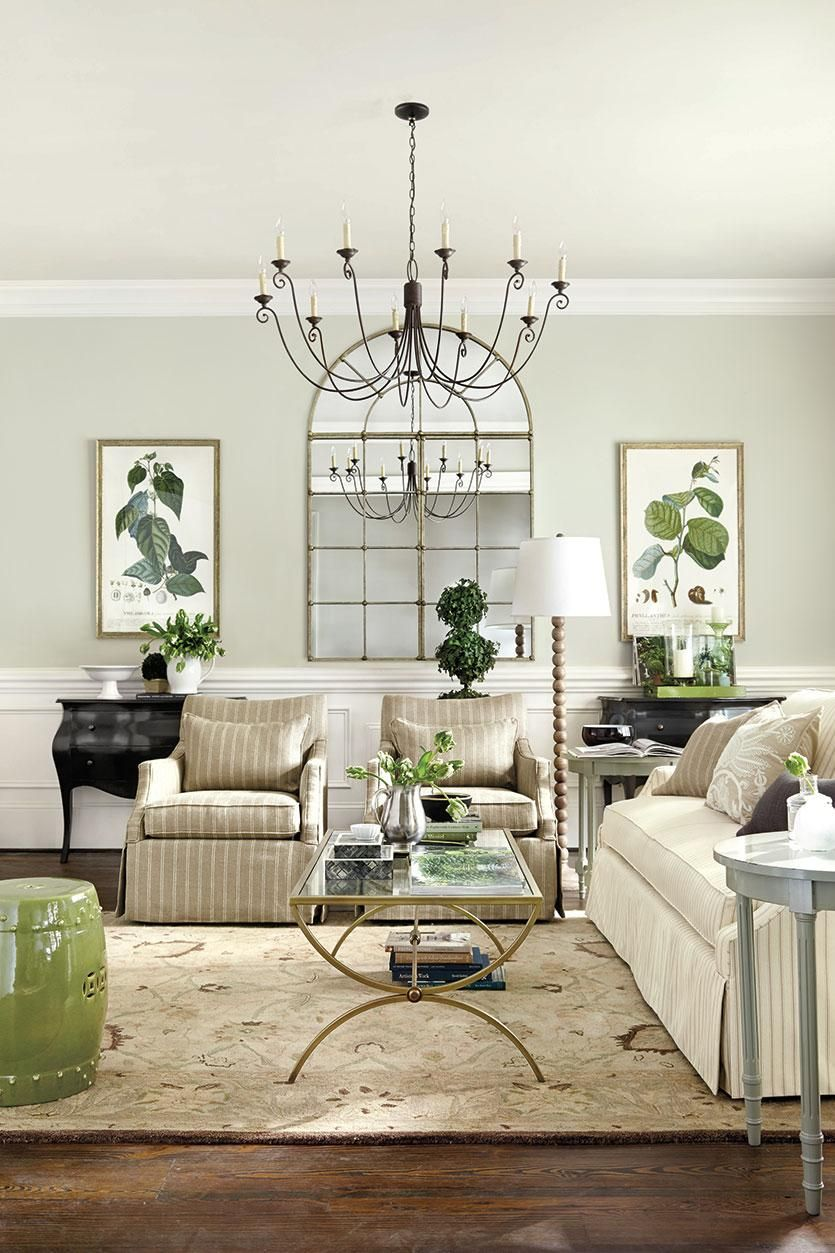 Refresh For Spring With Color Quality Living Room Furniture Living Room Green Neutral Living Room
