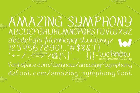 Amazing symphony font  by weknow on @creativemarket