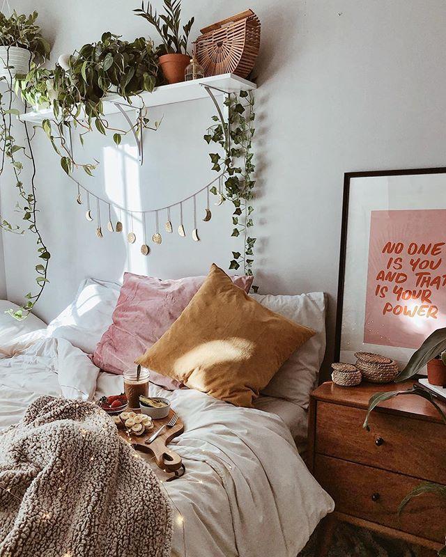 Photo of Koselig bed med planter