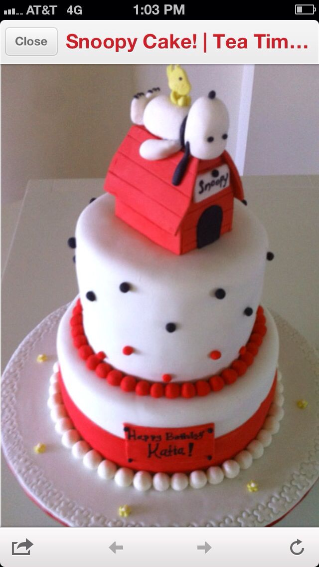 Snoopy Birthday cakes Pinterest Snoopy Cake and Snoopy cake