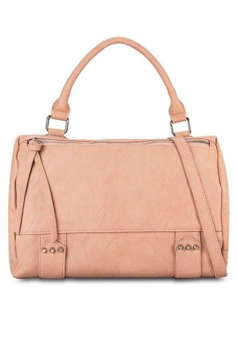 66ed77ac2f Hexagonal Gusset Shoulder Bag from ZALORA in pink_1   Bags