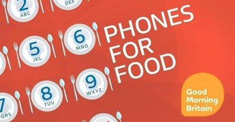 ITV Good Morning Britain Phones For Food Campaign