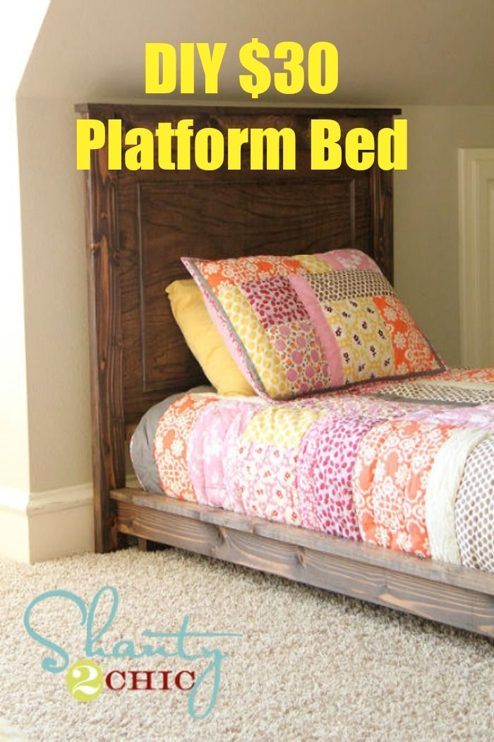 Diy 30 Twin Platform Bed Diy Platform Bed Diy Twin Bed Diy Bed