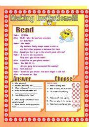 English teaching worksheets invitations telephone conversation english teaching worksheets invitations stopboris Choice Image
