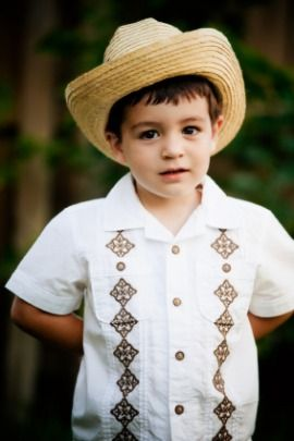lil niño in sombrero and guayabera  8d3c5e1af82