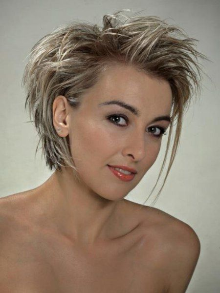 Hairstyles with long and short sections for the ne