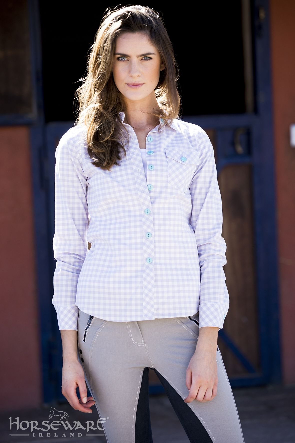90b35b973a7 Horseware Ladies Collection S S15  Nola cotton check shirt