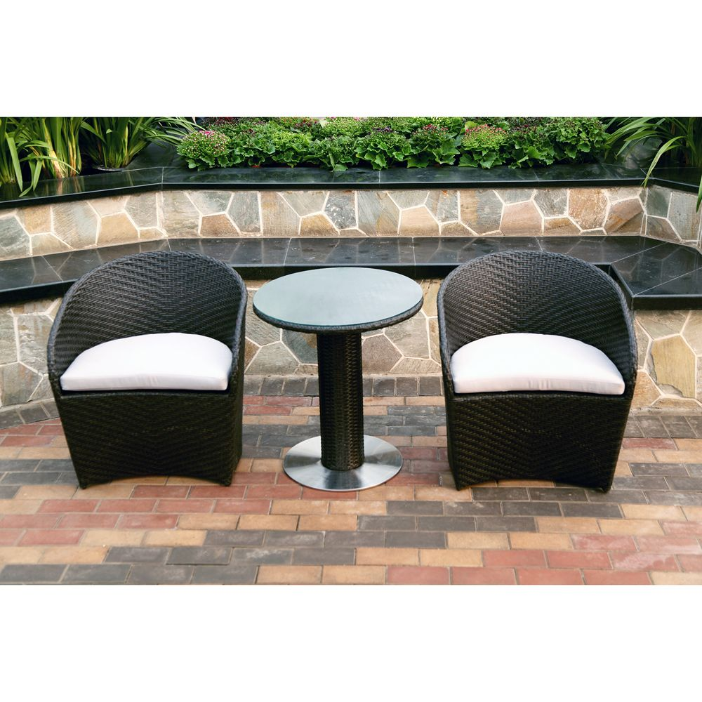 karlstad black 3 piece wicker bistro set apartment goals rh pinterest cl