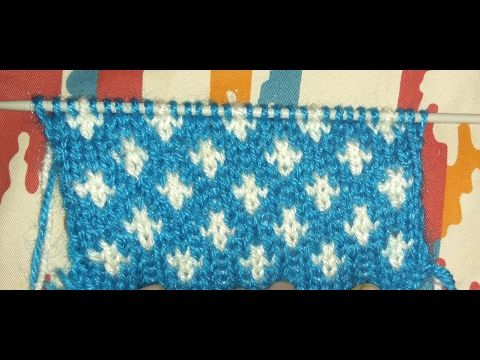 Easy Two Color Knitting Pattern No.23| Hindi - YouTube | SUPERTRICOT ...