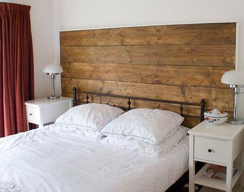 houten wand in slaapkamer - diy home and outdoor | pinterest, Deco ideeën