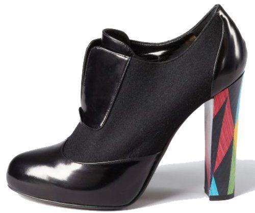 Fendi Wuthering Heights High Heel Wool and Leather Platform Bootie (37.5 EU Women's)