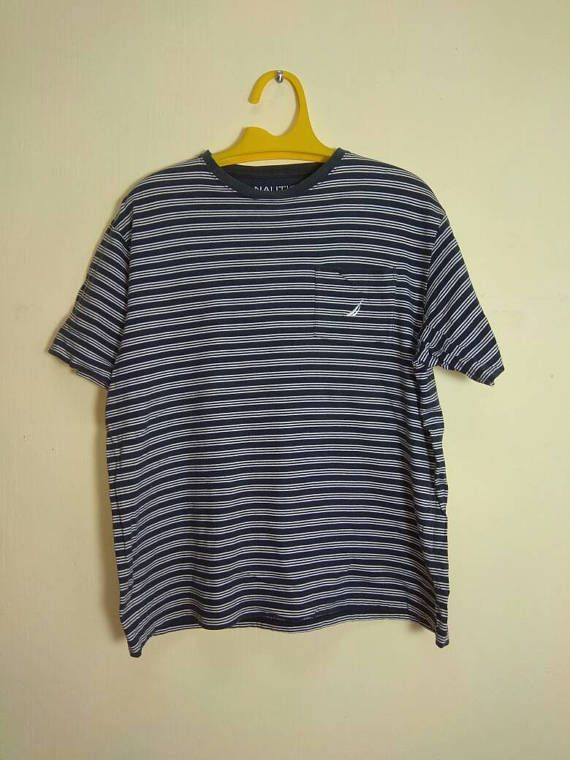Vintage 90s Nautica Pocket T-shirt tOPC0