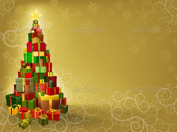 Christmas background with gifts tree gift and fonts christmas background with gifts tree christmas seasonsholidays negle Image collections