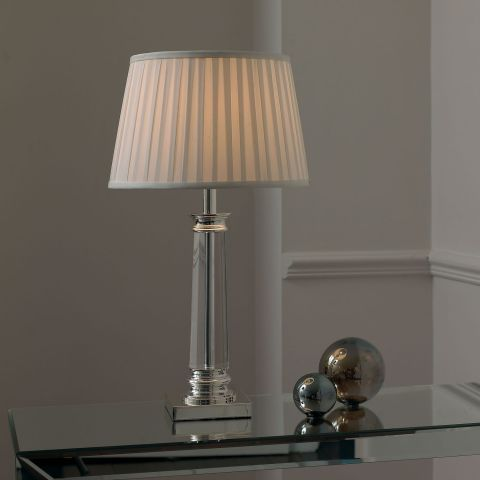 Endon Lighting Bouchet Silver Plated And Crystal Table Lamp