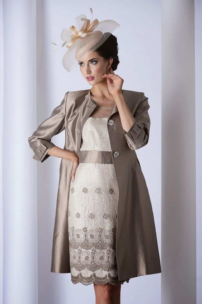 MOS 2821-2823 (Mireia) A lovely dress and coat in rich cream and ...