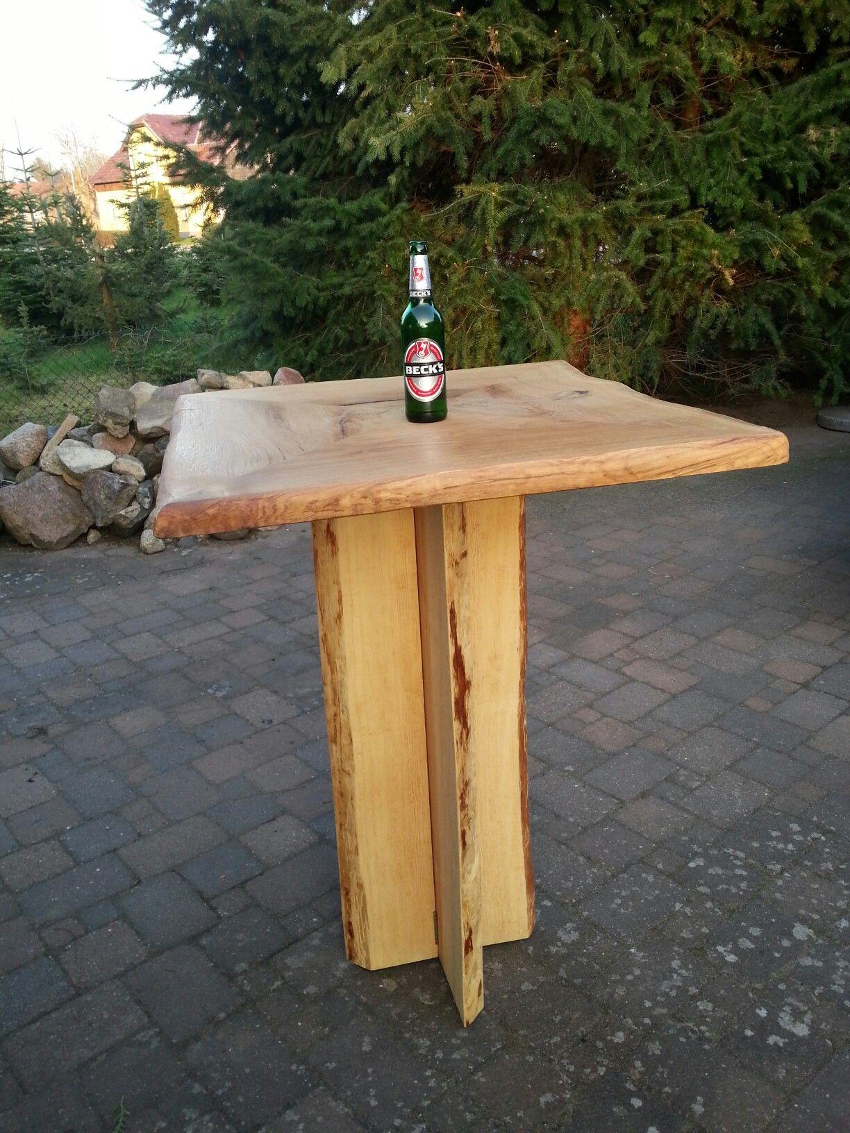 Rustikaler Stehtisch Fur Draussen In 2019 Stehtisch Holz