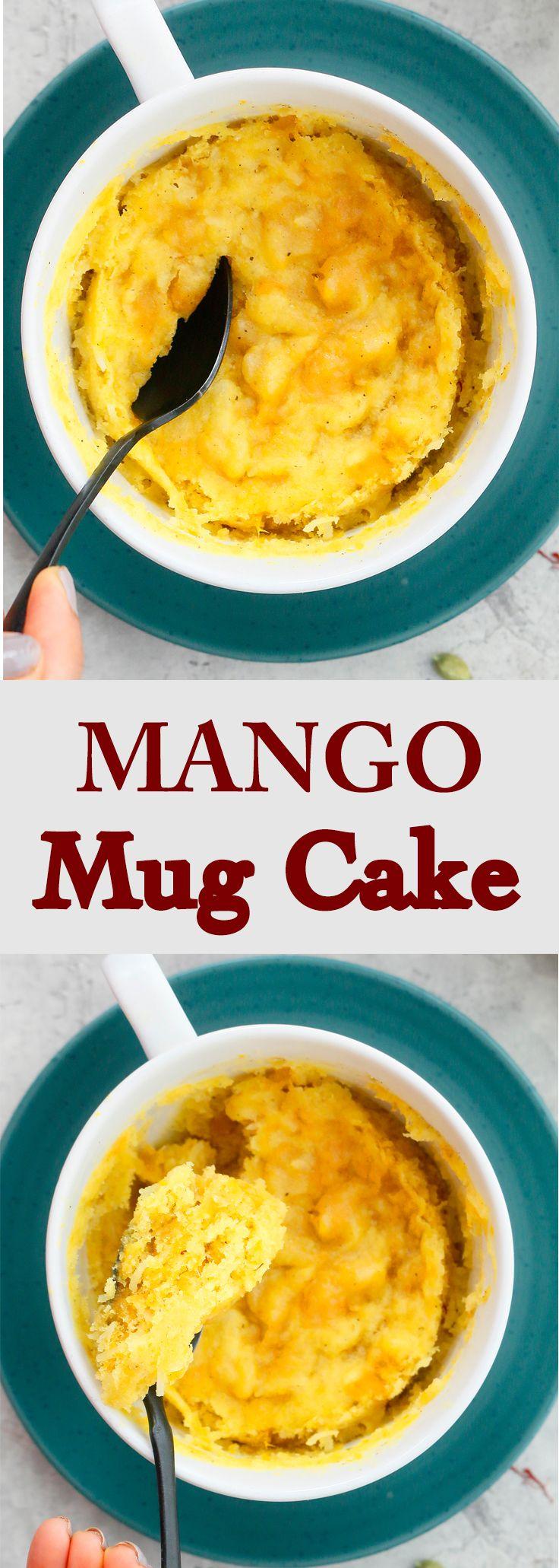 Mango Mug Cake in Microwave (Eggless)   Kitchen @ Hoskins ...