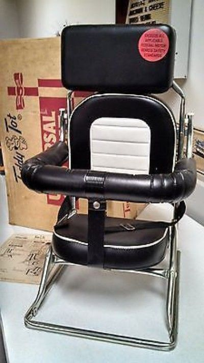 Teddy Tot Universal Car Seat -Vintage 60's-70's child CAR SEAT-Black