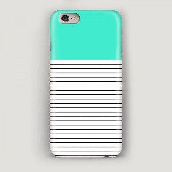 watch 2473d ba54b Stripes iPhone 7 Case, Mint iPhone 6 Case, iPhone 5s Case ...