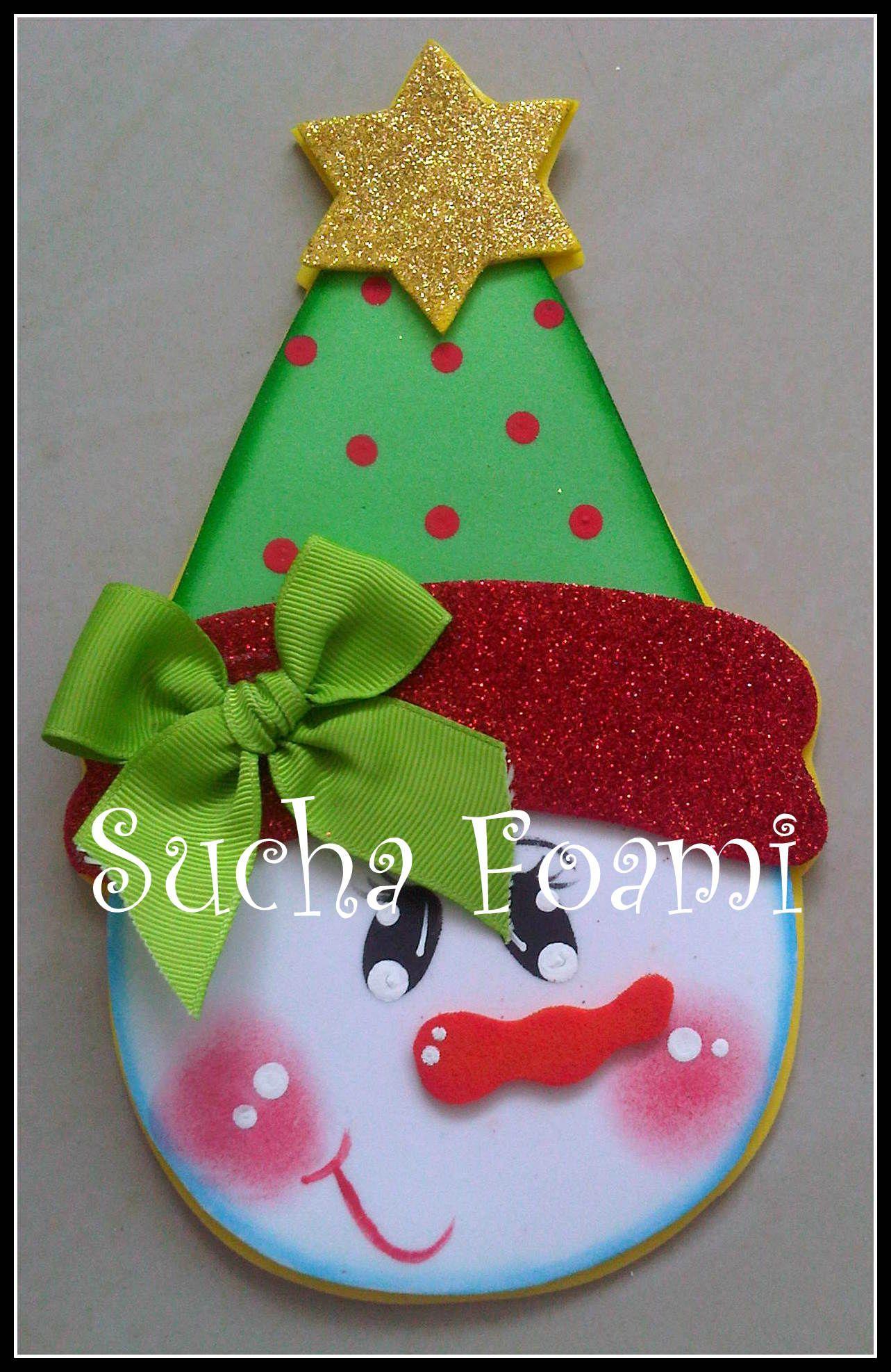 Imantados para la nevera navidad pinterest nevera - Decoracion navidad goma eva ...