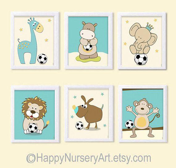Sports nursery artSet of 6 prints nursery by HappyNurseryArt