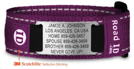 A Bracelet With Emergency Contact Information