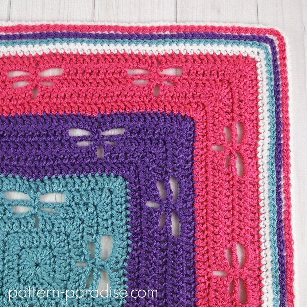 Free Crochet Pattern: Radiating Dragonflies Throw | Crochet ...